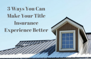 title insurance experience